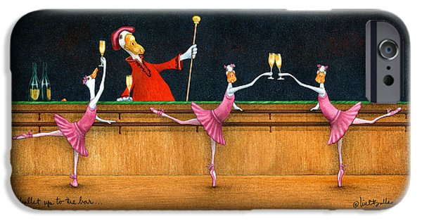 Will Bullas iPhone Cases - Ballet Up To The Barre... iPhone Case by Will Bullas