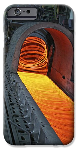 Production Line iPhone Cases - Bar-rolling Mill Processing Molten Metal iPhone Case by Ria Novosti