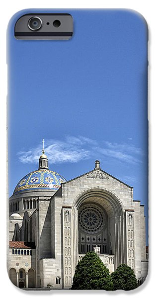 University Of Washington iPhone Cases - Basilica of The National Shrine of the Immaculate Conception iPhone Case by Brendan Reals