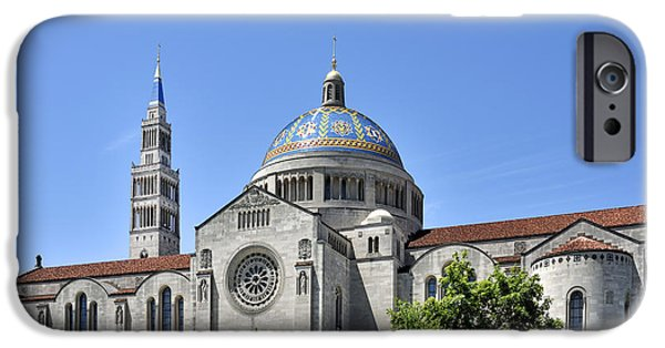 University Of Washington iPhone Cases - Basilica of The National Shrine of The Immaculate Conception - Washington DC iPhone Case by Brendan Reals