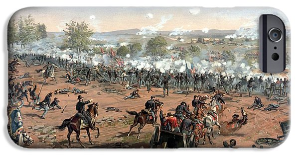 States Mixed Media iPhone Cases - Battle of Gettysburg iPhone Case by War Is Hell Store