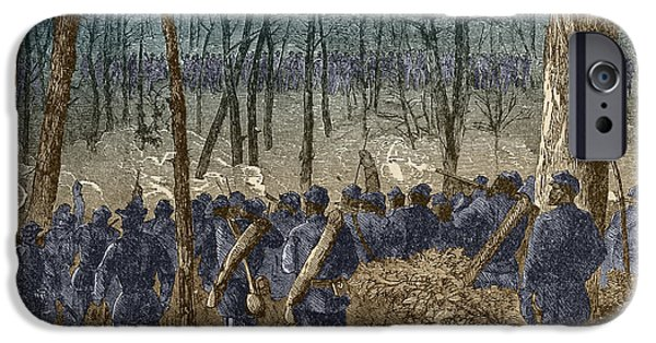Secession iPhone Cases - Battle Of The Wilderness, 1864 iPhone Case by Photo Researchers