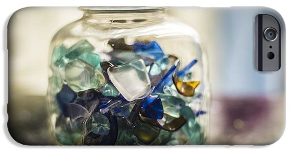 Bottlecaps iPhone Cases - Beach Glass iPhone Case by Rich Governali