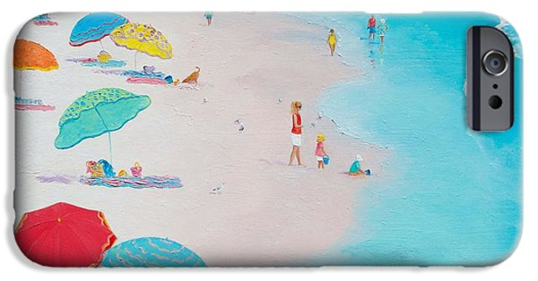 House Art iPhone Cases - Beach Painting - One Summer iPhone Case by Jan Matson