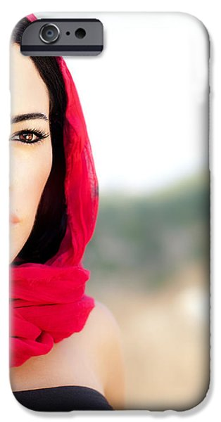 Beautiful arabic woman iPhone Case by Anna Omelchenko