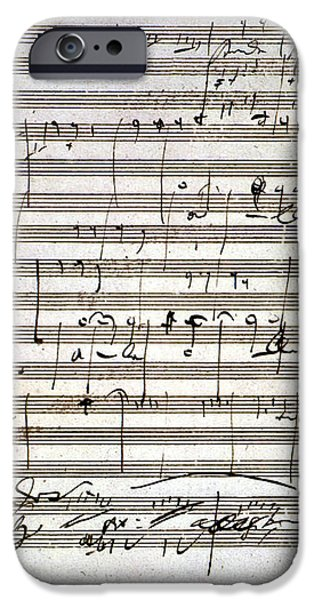 BEETHOVEN MANUSCRIPT iPhone Case by Granger