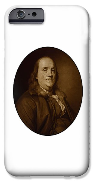 U.s Heroes iPhone Cases - Benjamin Franklin iPhone Case by War Is Hell Store