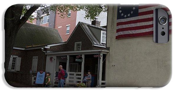 American Flag iPhone Cases - Betsy Ross House Philadelphia Pennsylvania iPhone Case by Jason O Watson