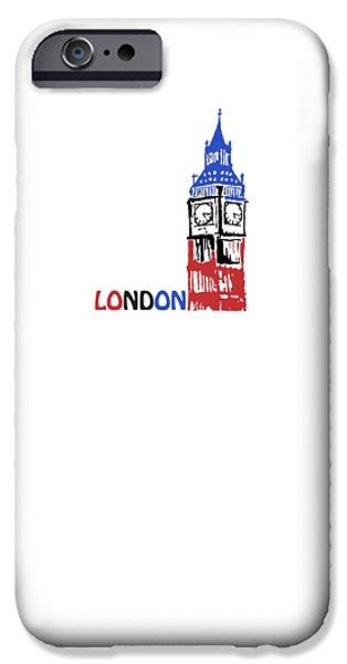 Landmarks Tapestries - Textiles iPhone Cases - Big Ben iPhone Case by Glen Heppner