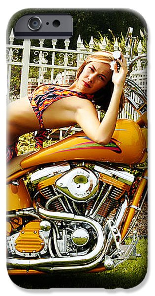 Bikes and Babes iPhone Case by Clayton Bruster