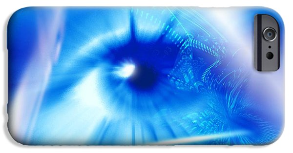 Technological iPhone Cases - Biometrics, Conceptual Artwork iPhone Case by Pasieka