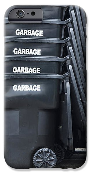 Black Garbage Bins iPhone Case by Don Mason