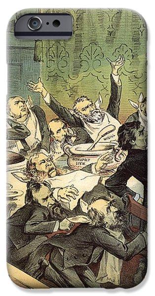 BLAINE CARTOON, 1884 iPhone Case by Granger
