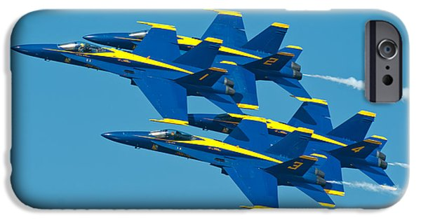 Cave iPhone Cases - Blue Angels iPhone Case by Sebastian Musial