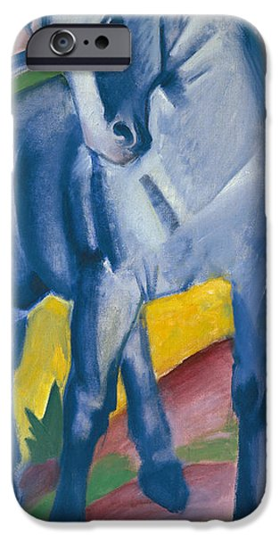 The Horse iPhone Cases - Blue Horse iPhone Case by Franz Marc