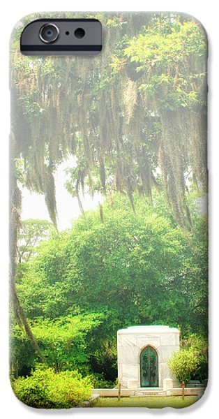 BONAVENTURE CEMETERY Savannah GA iPhone Case by William Dey