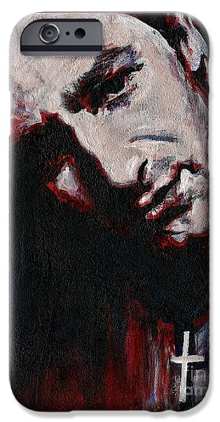 U2 Paintings iPhone Cases - Bono - Man Behind the Songs Of Innocence iPhone Case by Tanya Filichkin