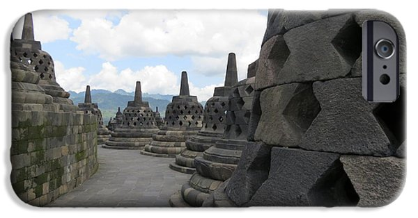 Historic Site iPhone Cases - Borobudur Temple iPhone Case by Cindy Kellogg