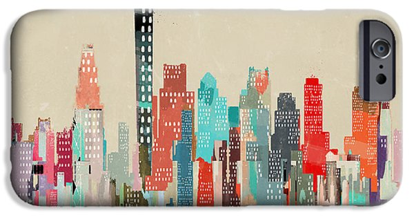 City. Boston iPhone Cases - Boston City Skyline iPhone Case by Bri Buckley