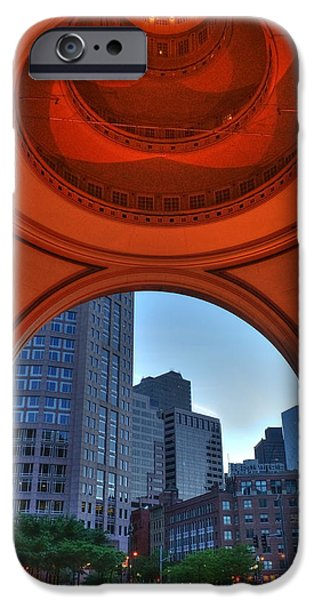 City. Boston iPhone Cases - Boston Harbor Hotel Rotunda iPhone Case by Joann Vitali