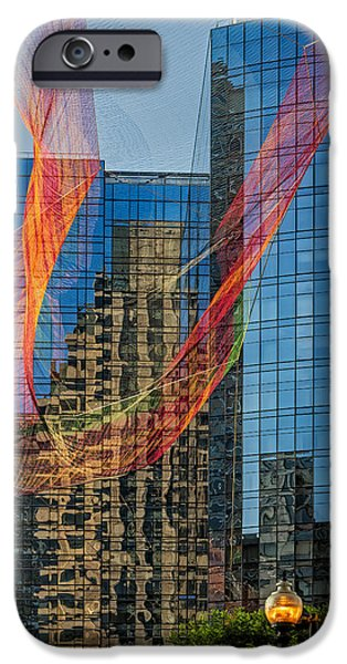 Scenery iPhone Cases - Boston Reflections iPhone Case by Susan Candelario