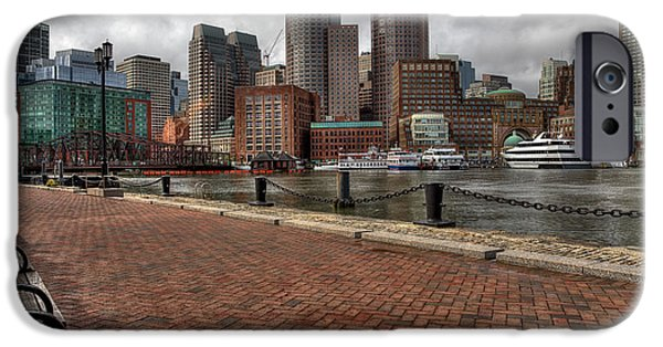 Boston Ma iPhone Cases - Boston Skyline iPhone Case by John Hoey