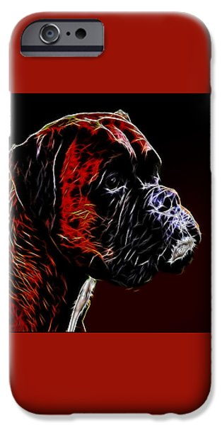 Boxer iPhone Cases - Boxer Dog iPhone Case by Alexey Bazhan