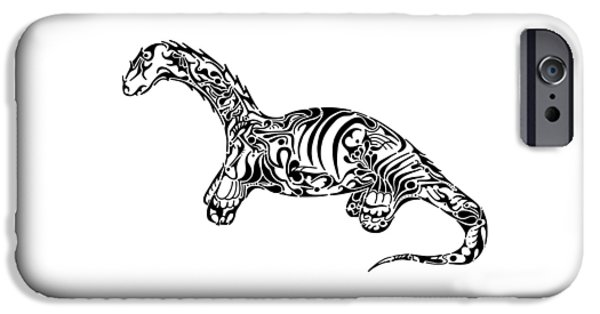 Serpent iPhone Cases - Brontosaurus iPhone Case by Thomas Coleman
