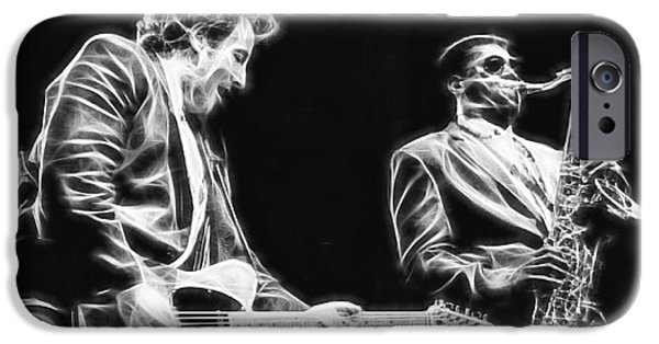 Bruce Springsteen Prints iPhone Cases - Bruce Springsteen Clarence Clemons Collection iPhone Case by Marvin Blaine