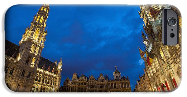 Colour Image iPhone Cases - Brussels, Belgium iPhone Case by Axiom Photographic