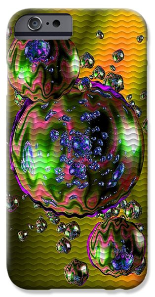 Concept Art iPhone Cases - Bubbliana Catus 2 no. 2 V b iPhone Case by Gert J Rheeders