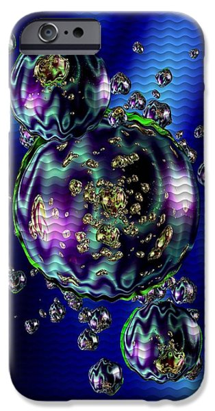 Abstract Digital Pastels iPhone Cases - Bubbliana Catus 2 no. 5 V b iPhone Case by Gert J Rheeders