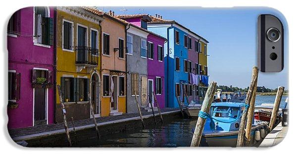 Facade iPhone Cases - BURANO Colorful Italian Island iPhone Case by Melanie Viola