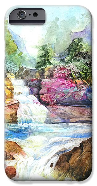 Buttermilk Falls III iPhone Case by Patricia Allingham Carlson