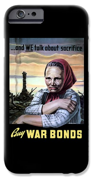 Ruin iPhone Cases - Buy War Bonds iPhone Case by War Is Hell Store
