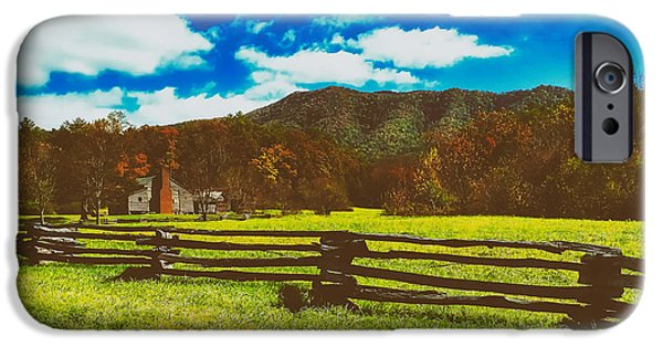 Meadow Photographs iPhone Cases - Cades Cove In Autumn iPhone Case by Donna Kirby