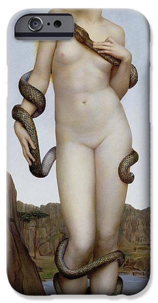Serpent iPhone Cases - Cadmus and Harmonia iPhone Case by Evelyn De Morgan