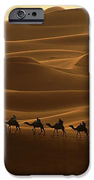 Camel Caravan in the Erg Chebbi Southern Morocco iPhone Case by Ralph A  Ledergerber-Photography