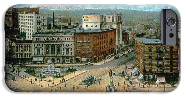 1907 Paintings iPhone Cases - Campus Martius iPhone Case by Celestial Images