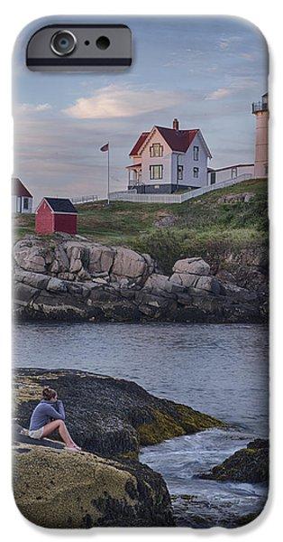 Cape Neddick Lighthouse iPhone Case by David DesRochers