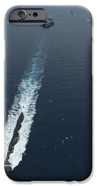 Carrier Strike Group Formation Of Ships iPhone Case by Stocktrek Images