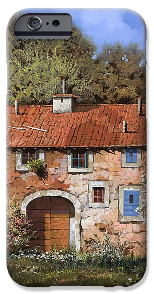 casolare a primavera iPhone Case by Guido Borelli