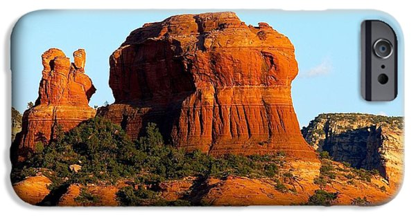 Cathedral Rock iPhone Cases - Cathedral Rock Sedona iPhone Case by Barbara Zahno