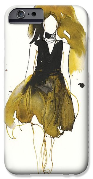 Model Drawings iPhone Cases - Catwalk iPhone Case by Toril Baekmark
