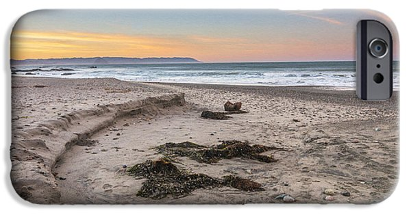 Ocean Sunset iPhone Cases - Cayucos State Beach Sunrise iPhone Case by Patti Deters