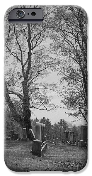 Maine iPhone Cases - Cemetery iPhone Case by Alana Ranney