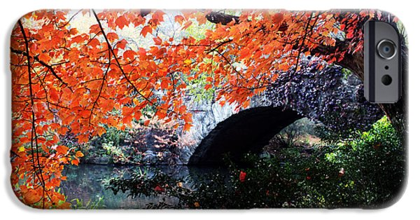 Orsillo Digital iPhone Cases - Central Park New York City iPhone Case by Mark Ashkenazi
