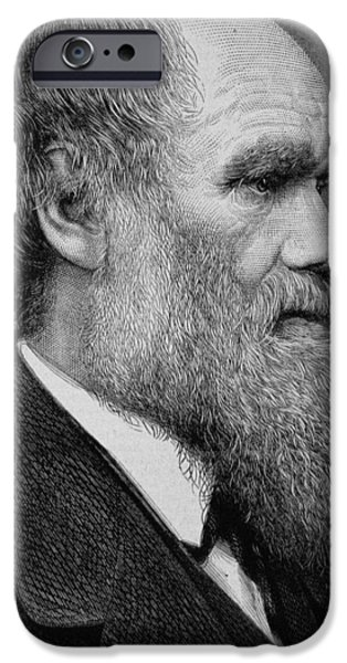 Clever iPhone Cases - Charles Darwin iPhone Case by English School