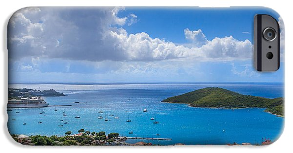 Charlotte iPhone Cases - Charlotte Amalie St. Thomas iPhone Case by Keith Allen