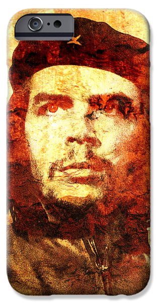 Cuban iPhone Cases - Che Guevara iPhone Case by Jose Espinoza